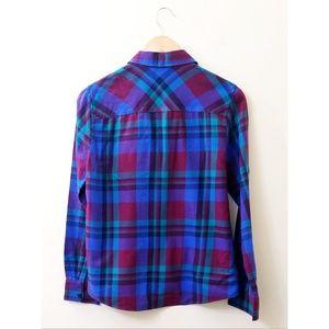 J. Crew Tops - J.Crew - Garnet Flame Plaid Button-Down Shirt